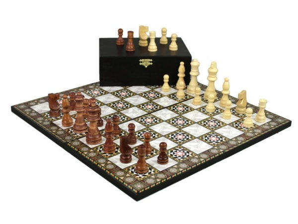 chess set mother of pearl yenigun