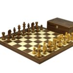 Executive Range Wooden Chess Set Walnut Board 20″ Weighted Sheesham German Staunton Pieces 3.75″