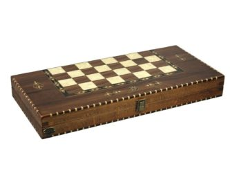 "Luxury Range Helena Backgammon Set ""Rural Walnut"" – 20″  2150"