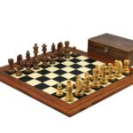Executive Range Wooden Chess Set Palisander Board 20″ Weighted German Staunton Pieces