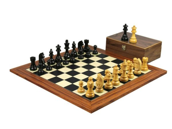 palisander chess set german staunton ebonised chess pieces