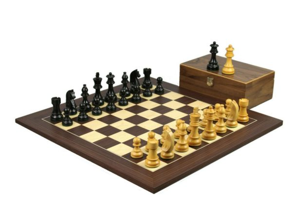 macassar chess set ebonised german staunton chess pieces