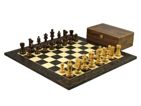 tiger ebony chess set stuatnon french knight chess pieces