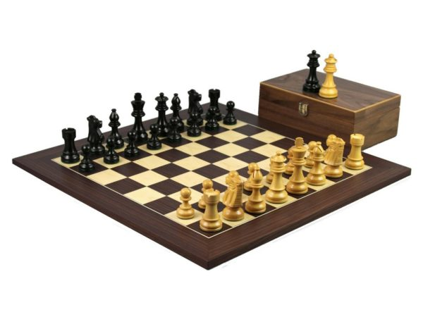 macassar staunton chess set french knight ebonised chess pieces
