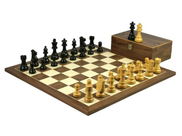 staunton chess set walnut ebonised french knight