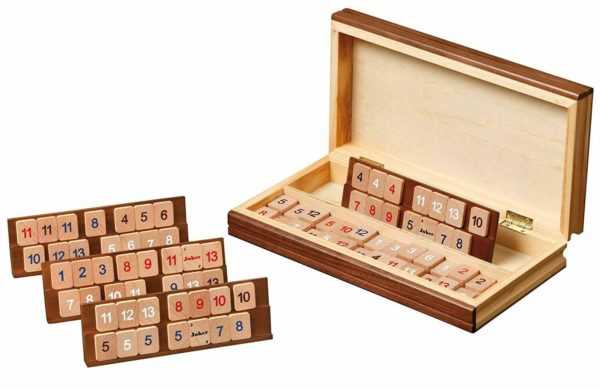 wooden philos rummy set