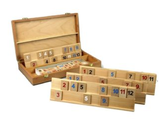 Rummy Set With Wooden Box 14″