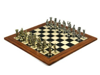 Executive Range Chess Set Palisander & Maple Board With Metal Chess 20″