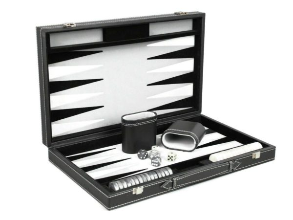 leather backgammon set philos