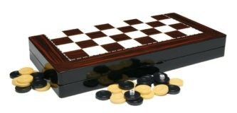 "Classic Range Backgammon Set ""Red Walnut""- 19″"