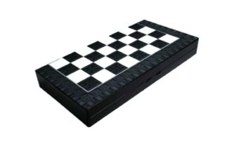"""Classic Range Backgammon Set """"Black & White""""- 20″"""