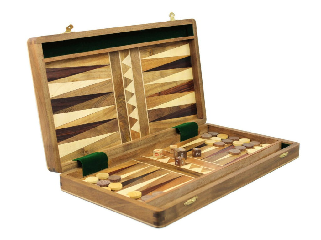 solid wood foldable backgammon set sheesham