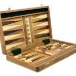 "Original Range Backgammon Set ""Sheesham"" – 18″"