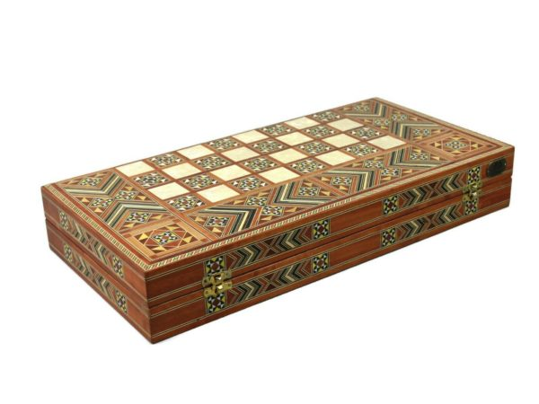 wooden backgammon set arizona