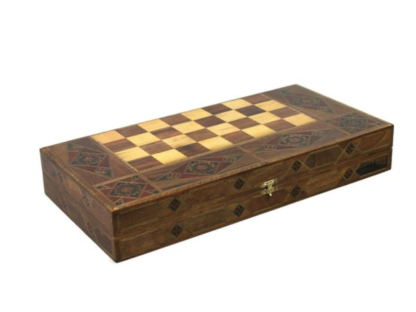 wooden backgammon set majesty