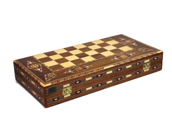 marbella wooden backgammon set