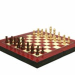 "Classic Range Chess & Backgammon set ""Red Elegance""- 20″"