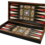 "Classic Range Backgammon Set ""Mother of pearl""- 20″"