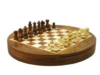 "Original Range Chess Set ""Sheesham Round"" – 14″"