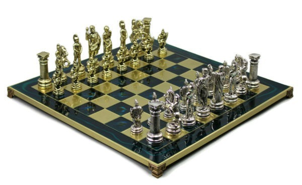 metal chess set sapphire blue marinakis