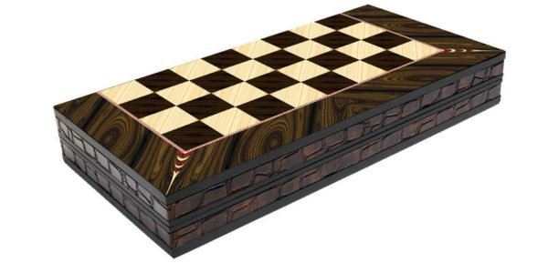 walnut backgammon set yenigun