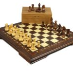 "Premium Range Helena Chess Set Wooden Weighted Pieces ""Walnut Wood""- 17″ 2618W"