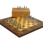 "Premium Range Chess Board With Metal Pieces ""Lineage"" – CWWL17″"