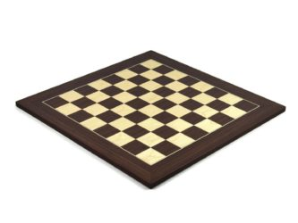 "Executive Range Chess Board ""Macassar & Maple"" – 20″"
