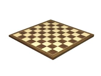 "Executive Range Chess Board ""Walnut & Maple"" – 20″"