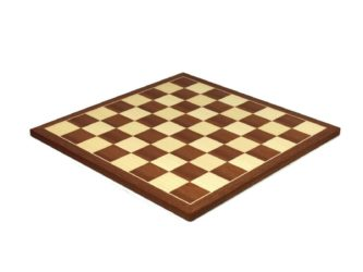 "Executive Range Chess Board ""Mahogany & Maple"" – 21″"