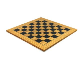 "Executive Range Chess Board ""Olive & Black Anegre"" – 18″"