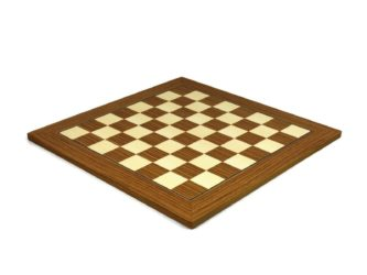 "Executive Range Chess Board ""Teak & Maple"" – 18″"