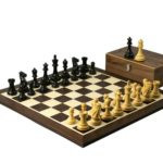 Executive Range Wooden Wenge Chess Set 19″ Weighted Ebonised Professional Staunton Pieces 3.75″