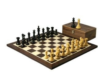 Master Range Wooden Wenge Chess Set 21″ Weighted Ebonised Professional Staunton Pieces 3.75″