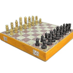 "Marble Range Chess Set ""Soap Stone"" – 12″"