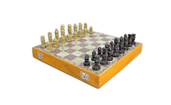 "Marble Range Chess Set ""Soap Stone"" – 14″"