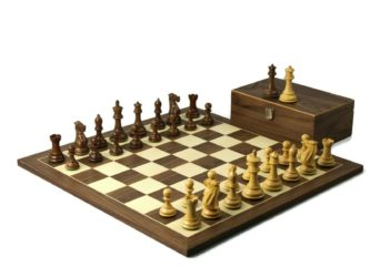 Executive Range Wooden Chess Set Walnut Board 20″ Weighted Sheesham Professional Staunton Pieces