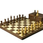 Executive Range Wooden Chess Set Walnut Board 20″ Weighted Sheesham Professional Staunton Pieces 3.75″