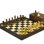 Executive Range Wooden Chess Set Tiger Ebony Board 20″ Weighted Sheesham Professional Staunton Pieces 3.75″