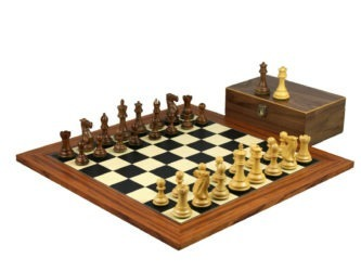 Executive Range Wooden Chess Set Palisander Board 20″ Weighted Professional Staunton Pieces
