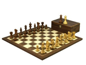Executive Range Wooden Chess Set Walnut Board 20″ Weighted Sheesham Classic Staunton Pieces 3.75″