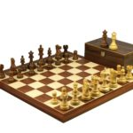 Executive Range Wooden Chess Set Mahogany Board 20″ Weighted Classic Staunton Pieces