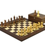 Executive Range Wooden Chess Set Macassar Board 20″ Weighted Sheesham Classic Staunton Pieces 3.75″