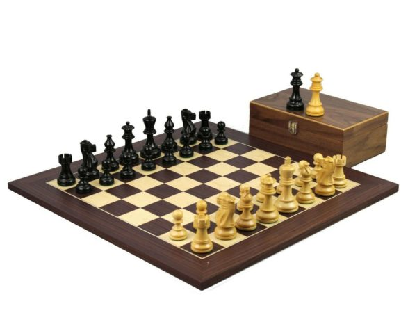 macassar staunton chess set cebonised classic staunton chess pieces