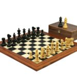 Executive Range Wooden Chess Set Palisander Board 20″ Weighted Classic Staunton Pieces