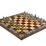 "Premium Range Chess Board With Metal Pieces ""Rose"" – CRWML17″"