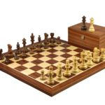 Executive Range Wooden Chess Set Mahogany Board 20″ Weighted Sheesham Classic Staunton Pieces 3.75″