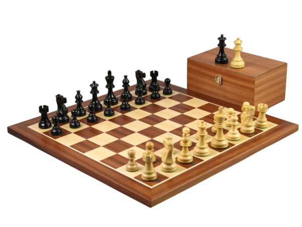 Mahogany chess set