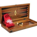 "Luxury Range Helena Backgammon Set ""Solitaire"" – 17″ 2233W"