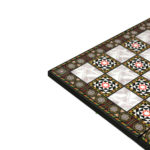 "Classic Range Wooden Flat Chess Board – ""Mother of Pearl""- 14″"